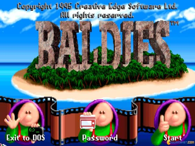 Baldies - game cover