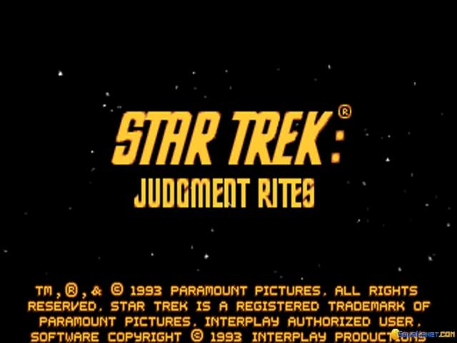 Star Trek: Judgment Rites - game cover