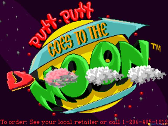 Putt-Putt Goes to the Moon - title cover