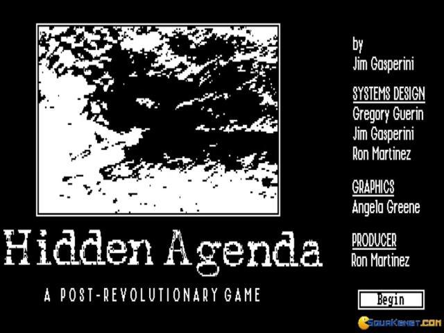 Hidden Agenda - game cover