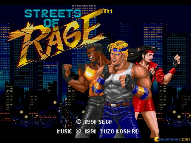 Streets of Rage - title cover