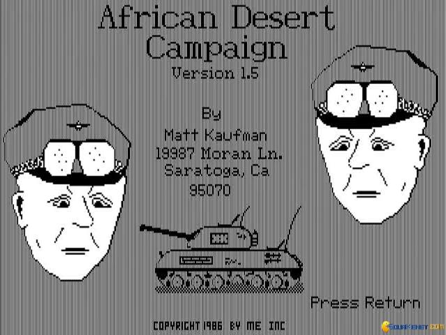 African Desert Campaign - title cover