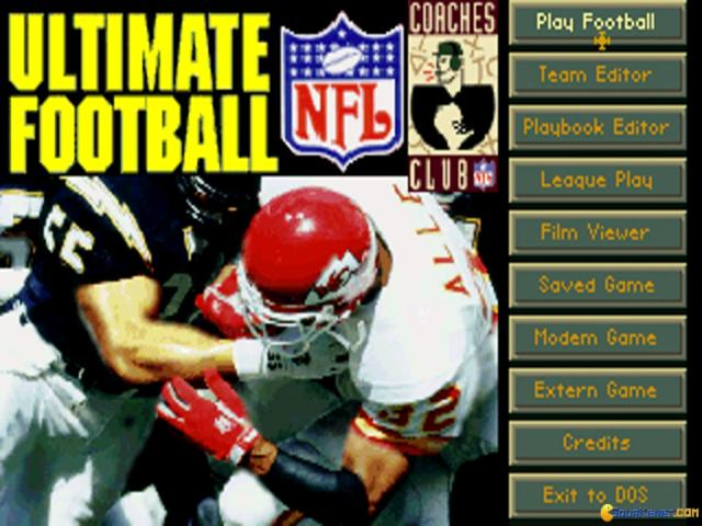 Ultimate Football '95 - title cover