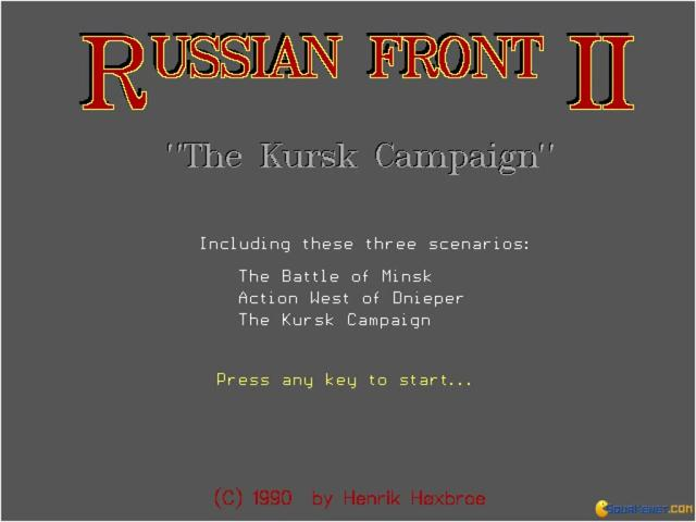 Russian Front 2: The Kursk Campaign - title cover