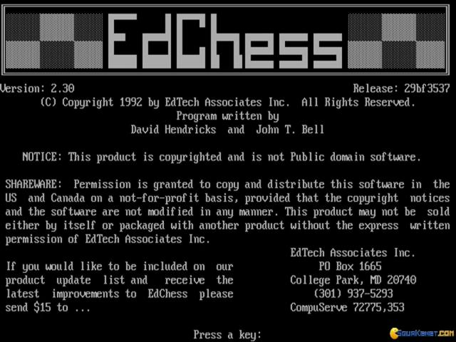 Ed Chess - title cover