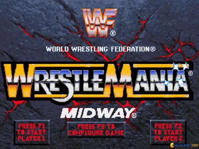 WWF Wrestlemania: the arcade game - title cover