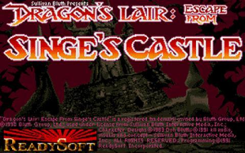 Dragon's Lair: Escape from Singe's Castle - title cover