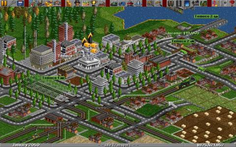 Transport Tycoon Deluxe for Windows - title cover