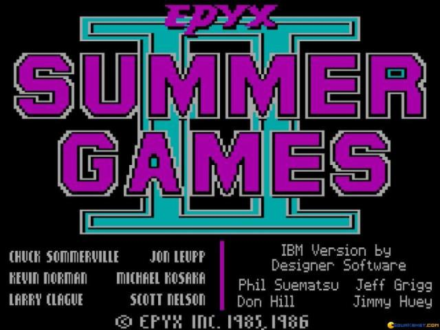 Summer Games 2 - title cover