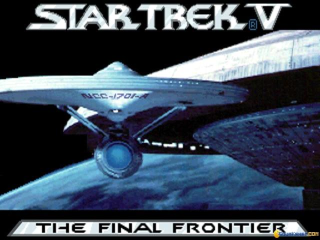 Star Trek V: The Final Frontier - title cover