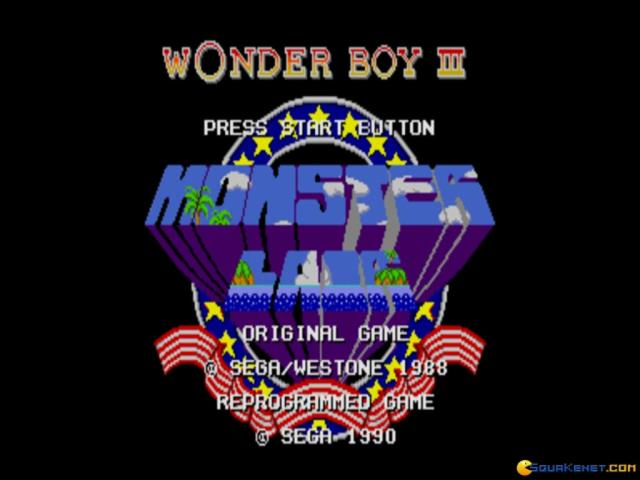Wonder Boy III: Monster Lair - title cover