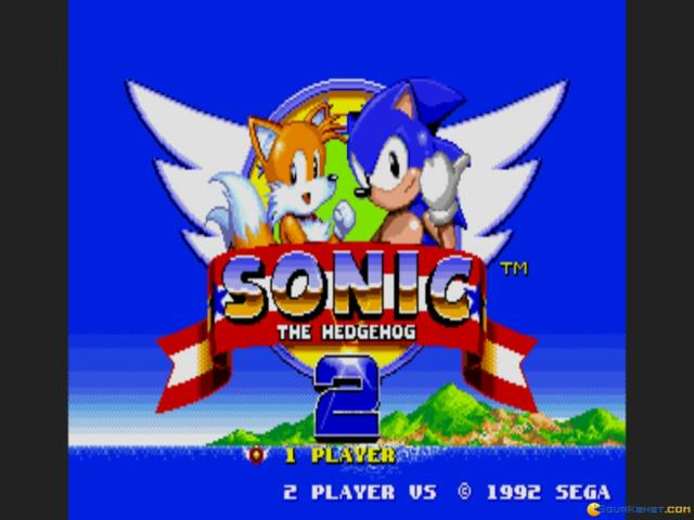 Sonic the Hedgehog 2 - game cover