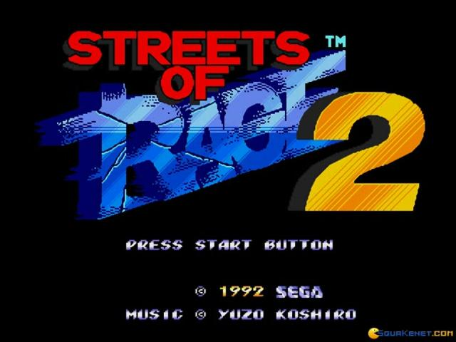 Streets of Rage 2 - title cover
