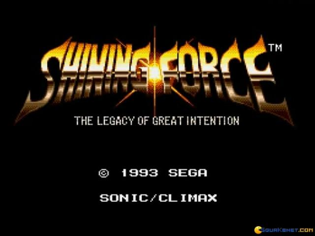 Shining Force - title cover