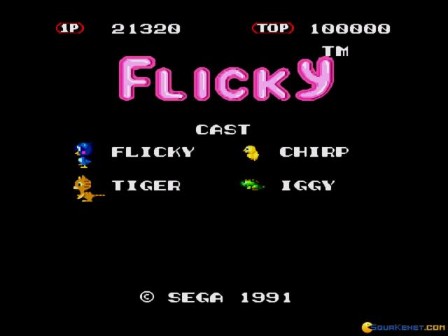 Flicky - game cover