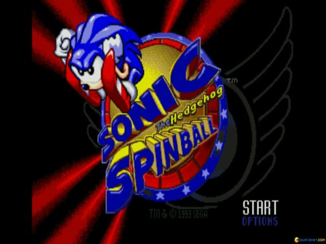 Sonic Spinball - title cover
