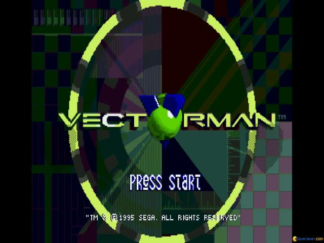 VectorMan - title cover