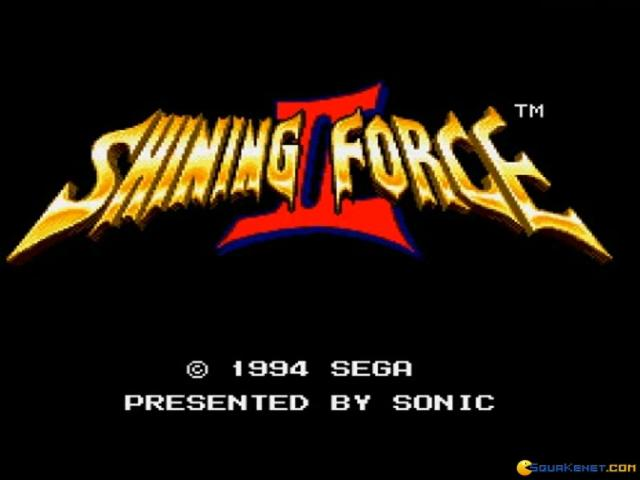 Shining Force 2 - title cover