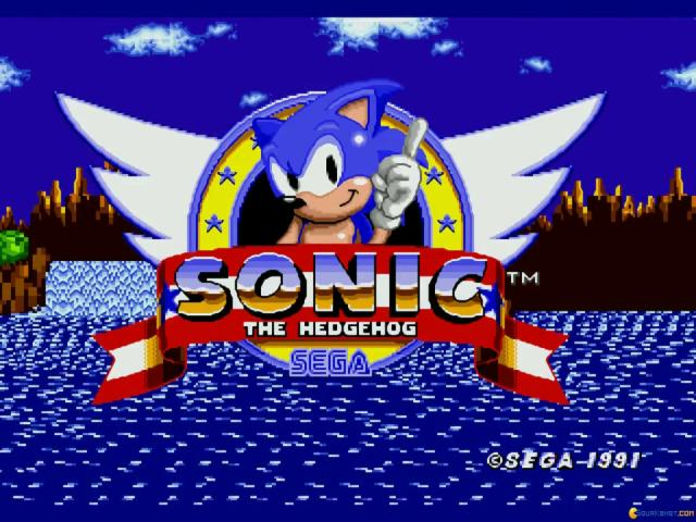 Sonic the Hedgehog - title cover