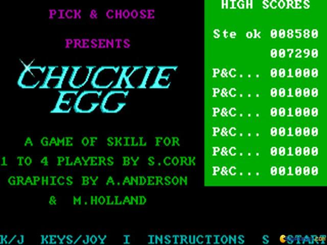 Chuckie Egg - title cover