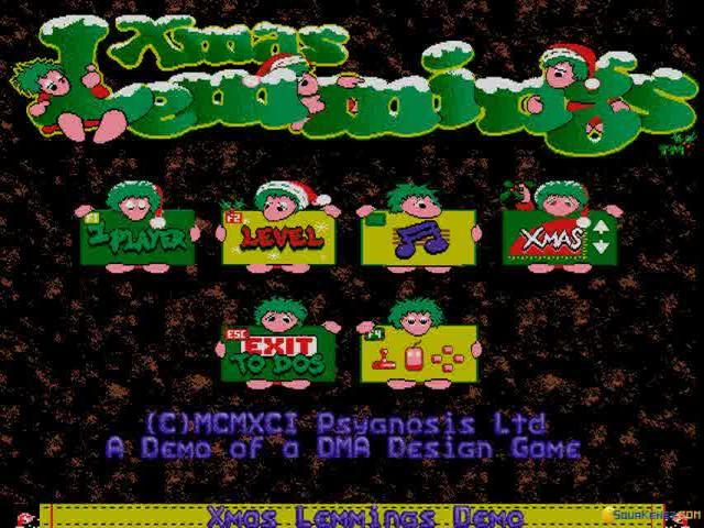 Xmas Lemmings - game cover