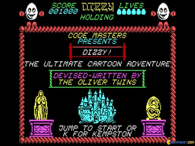 Dizzy: The Ultimate Cartoon Adventure - title cover