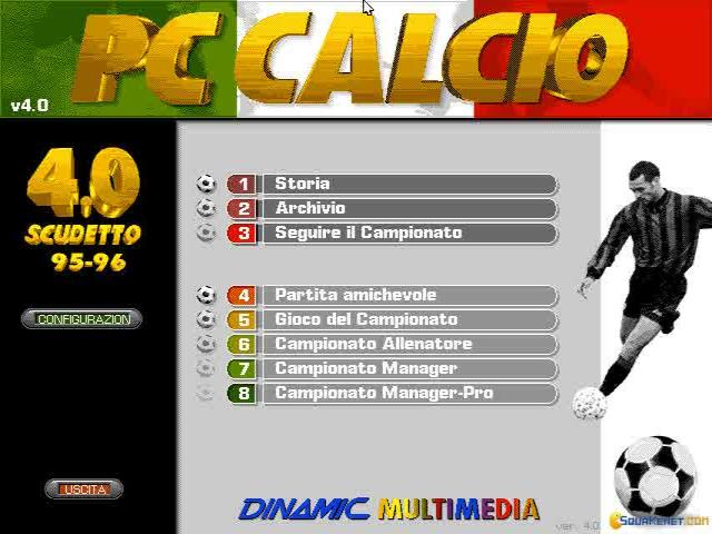 PC Calcio 4 - title cover