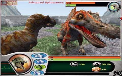 Jurassic Park: Dinosaur Battles - title cover