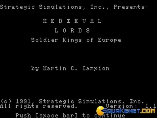 Medieval Lords - title cover