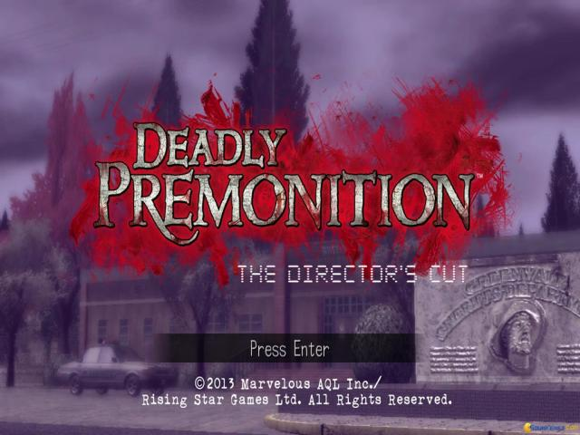 Deadly Premonition: Director's Cut - title cover