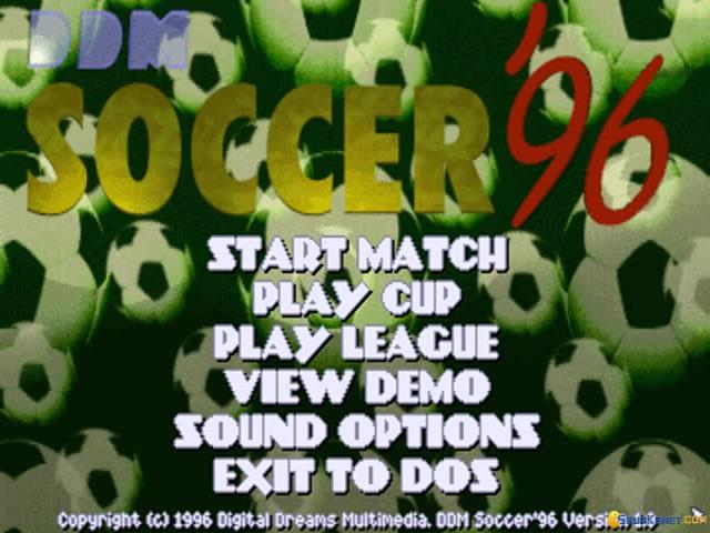 DDM Soccer '96 - title cover