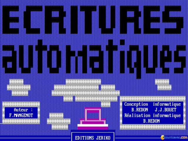 Ecritures automatiques - game cover