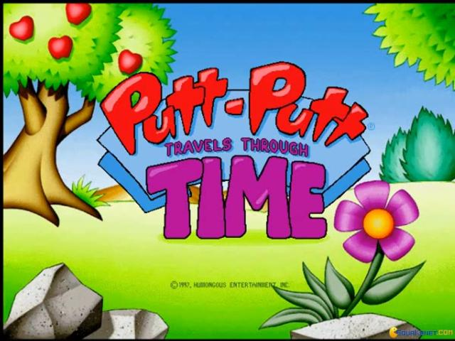Putt-Putt Travels Through Time - title cover