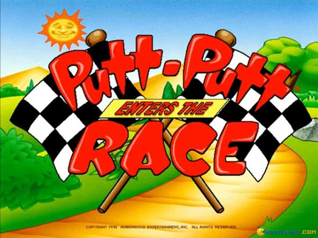 Putt-Putt Enters the Race - title cover