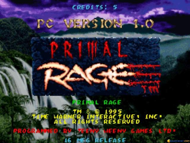 Primal Rage - game cover