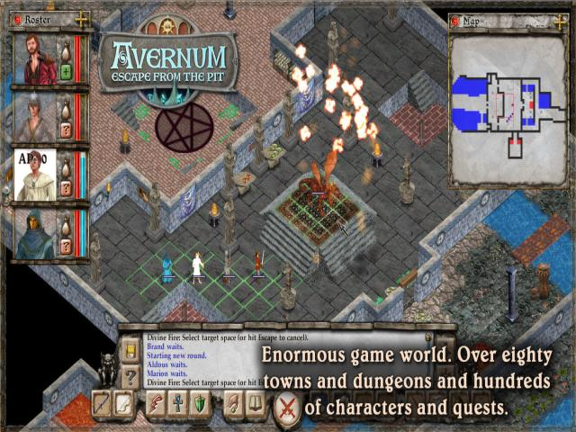 Avernum: Escape From the Pit - title cover