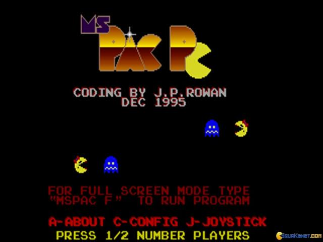 Ms Pac PC - title cover