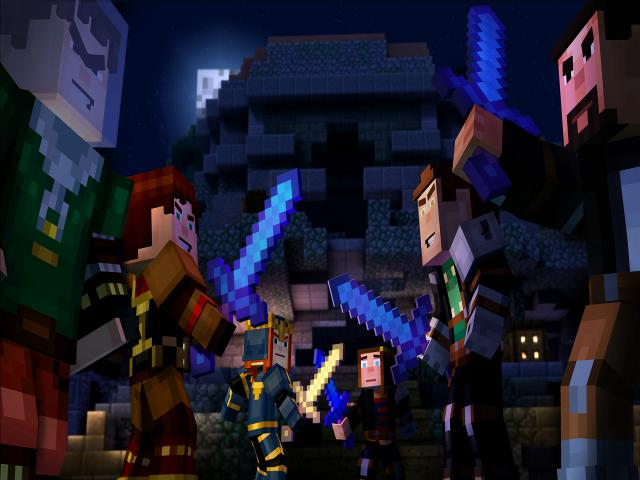 Minecraft: Story Mode - A Telltale Game Series - title cover
