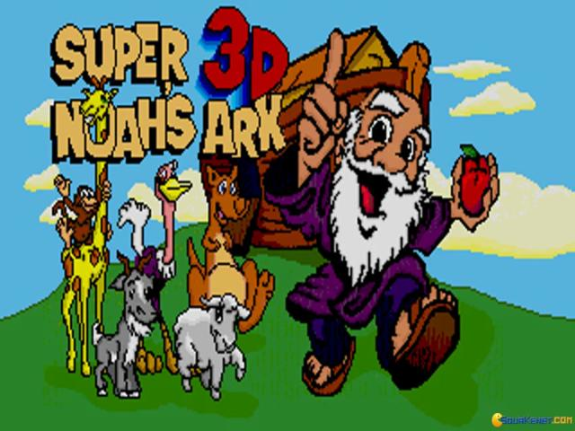Super Noah's Ark 3-D - title cover