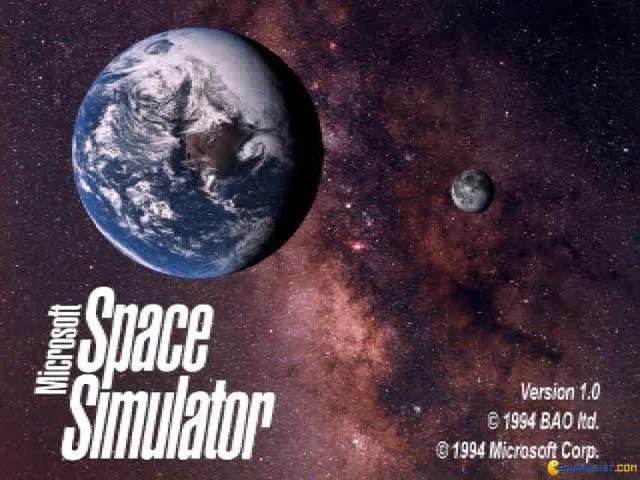 Microsoft Space Simulator - game cover