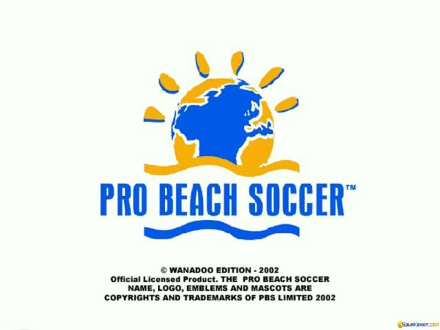 Pro Beach Soccer - game cover