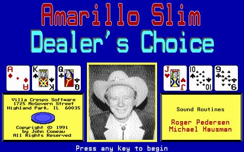 Amarillo Slim Dealer's Choice - game cover
