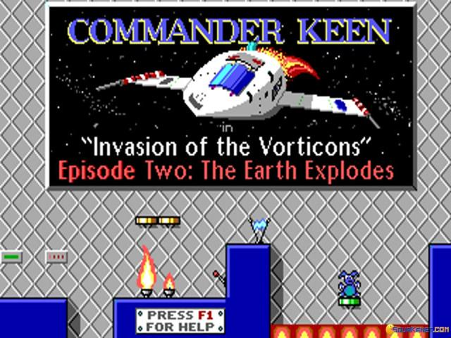 Commander Keen 2 - title cover