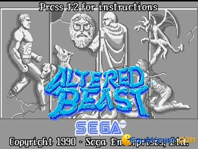 Altered Beast - title cover