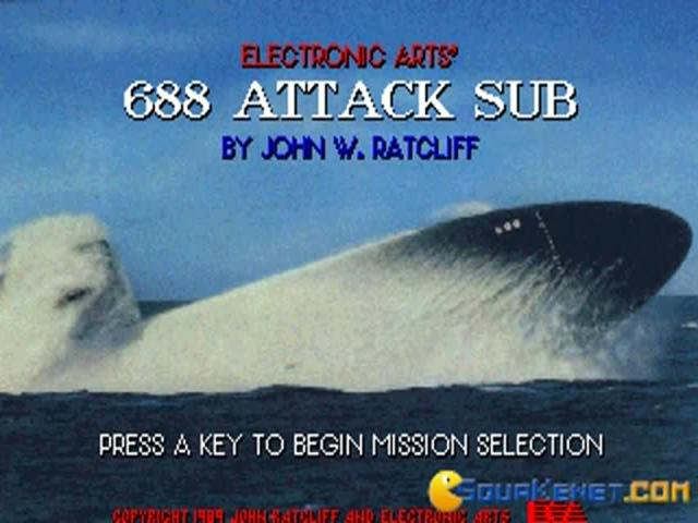 688 Attack Submarine - game cover