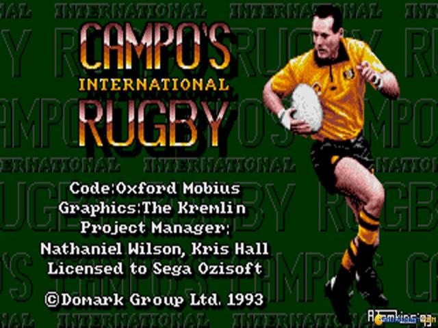 Campo's International Rugby - title cover