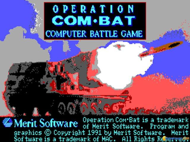 Operation Combat - game cover