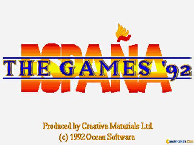 Espana Games '92 - title cover