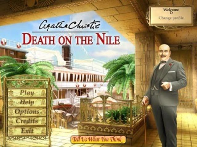 Agatha Christie Death on the Nile - title cover