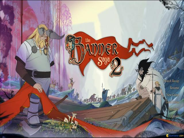 The Banner Saga 2 - title cover
